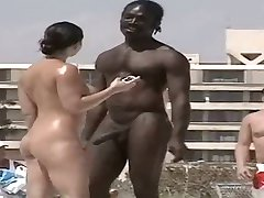 hot nudist black man horny at beach