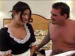 Sexy latina maid Sativa nailed