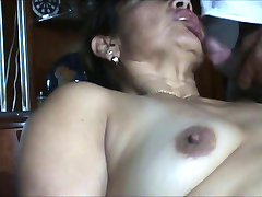 fat mature Hispanic couple in a nice assfuck.