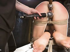 Missy is back after a long time away. She is put in brutal bondage and made to suffer every second of the day. Her little voice is so hot as she begs,
