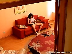 Masturbating naked girl caught on spy cam
