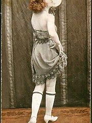 Vintage nude babes postcard