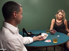 Beautiful Zoey Monroe looses her dress in a card game, and has to pay off the rest of her debt...