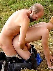 Tender interaged gay date in the field