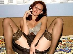 Each of my girlfriends like my craving sexciting wife loves posing for me in favourite stockings.