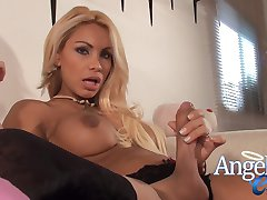 Naughty Tranny Angeles Cid is ready to tie you down and dominate you