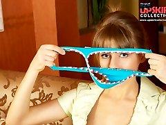 Blue thong panty upskirt pics