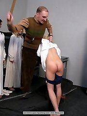 Sore buttocks for a blonde cutie at the gynaecologist