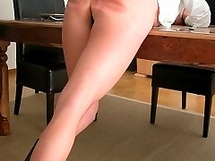 Bare arsed school girl spanked and caned