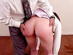 Beautiful babe stroking cock after a raw spanking