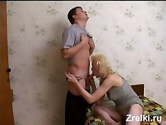 Brunette female gets her pussy rubbed and her faced jizzed on