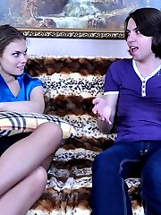 Dominative babe reveals her strapon surprise eager to plug some man-pussy