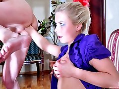 Puzzled girl unplugs her guys ass and fist fucks him anally for a mouthful
