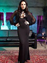 Chanel Preston spots Charie Deville dressed as a hot cheerleader at an underground Halloween...