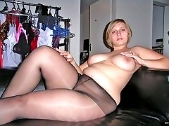 Real chubby amateur girls in pantyhose