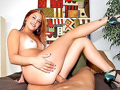 Beautiful perky titty red head gets her juicy bush pounded hard and cum faced after college in these hot fucking vids