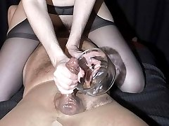 This FemDom takes great delight in working over her captive039s cock