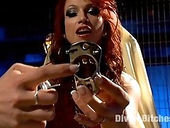 Nicki Hunter speaks directly to you! She's going to lock your little pin dick into an evil metal chastity belt and swallow the key! Maybe if you're a good boy she'll let you dig for it! Sit back and imagine what it would be like if this goddess owned your cock.