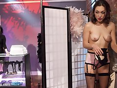 When trendy lingerie store owner,Veruca James catches hot chick Lily LaBeau shoplifting, she doesn't let her off easy. Lily is stripped naked then made to pay her debt with spanking, bondage, finger banging, caning, flogging, dick on a stick, face sitting, pussy licking and anal strap on fucking!