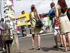 See the color of her panty up skirt