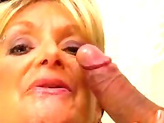 Busty cleaning lady  fucks a guy in the bathroom