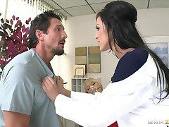 Hot Dr. Benson, a nympho dentist, fucks her assistant  his fianc