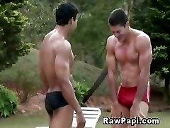 Muscled Latino Barebacked Playtime