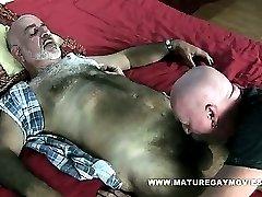 Skinny Hairy Daddy Fucks His Mature Friend