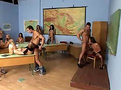 Students orgy in a school