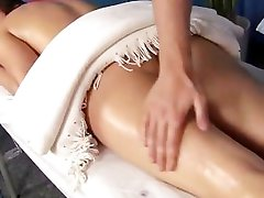 Massage fucking with facial cumshot