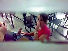 Blowjob in the classroom