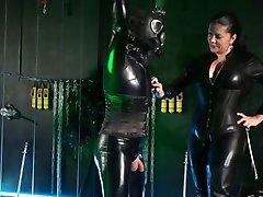 German mistress treats her Latexsissy