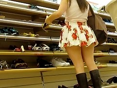 Teens tease with short short skirts