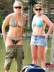 Amateur bikini shots spied on cam