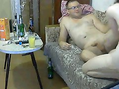 Russian couple trying to have fun