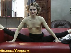 Blonde Gymnastic girl naked (HD)