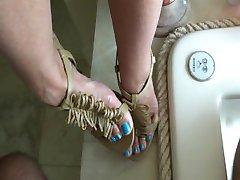Cum High Heel Long Blue Toes - heelslovers@pornhub