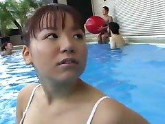 Teen Girls Swimming Pool Orgasm