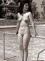 Vintage naked girls outside