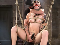 Rachael is sexy as hell and as soon as he rope touches her flesh, you can tell that she is a real rope slut. She is the kind of girl that immediately responds to the pain and bondage with a welcoming grin that says,