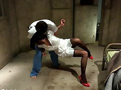 Nurse Asphyxia Noir gets ravished by mental patient James Deen in this erotic fantasy update!...