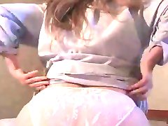 HOME VIDEO - HUSBAND CUMS IN MY PANTYS