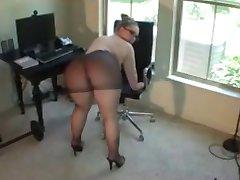 big ass in pantyhose