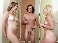 Hot scissoring action with Brett Rossi and AJ Applegate