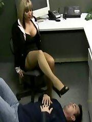 Lady boss handjobs