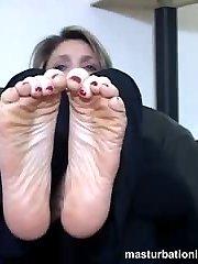 Teasing using feet