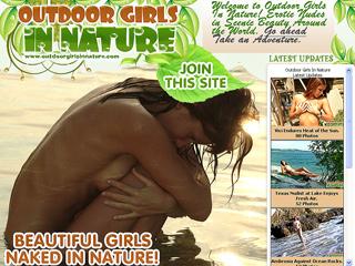 Outdoor Girls In Nature