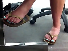 Candid Feet at the Library Faceshot