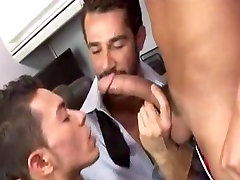 Dad learns twink how to suck a big cock