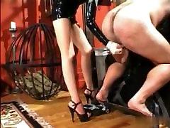 Asian Mistress Squeezing Balls